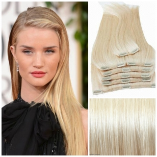 Kit extensions à clips lisses Virgin Russe 160 gr 50 cm Remy Hair