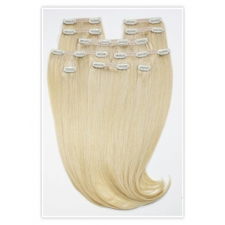 Kit extensions à clips lisses Indien 330 gr 50 cm Remy Hair XXL