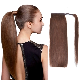 Postiche queue de cheval Indien 120 gr 50 cm Remy Hair