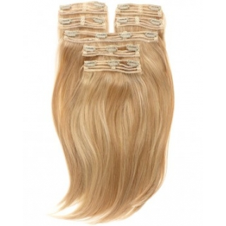 Kit extensions à clips lisses Indien 220 gr 50 cm Remy Hair XXL