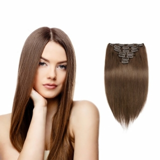 Kit extensions à clips lisses Indien 140 gr 40 cm Remy Hair
