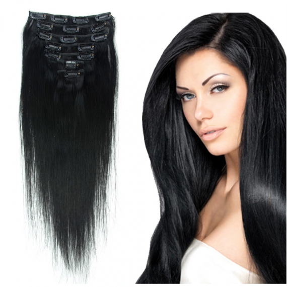 KIT CLIPS LISSE REMY 100 GR 50 CM LONG