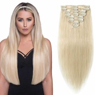 Kit extensions à clips lisses Indien 170 gr 60 cm Remy Hair