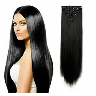 Kit extensions à clips lisses Indien 180 gr 75 cm Remy Hair