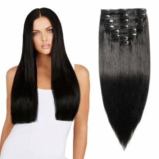 Kit extensions à clips lisses Indien 120 gr 50 cm Remy Hair